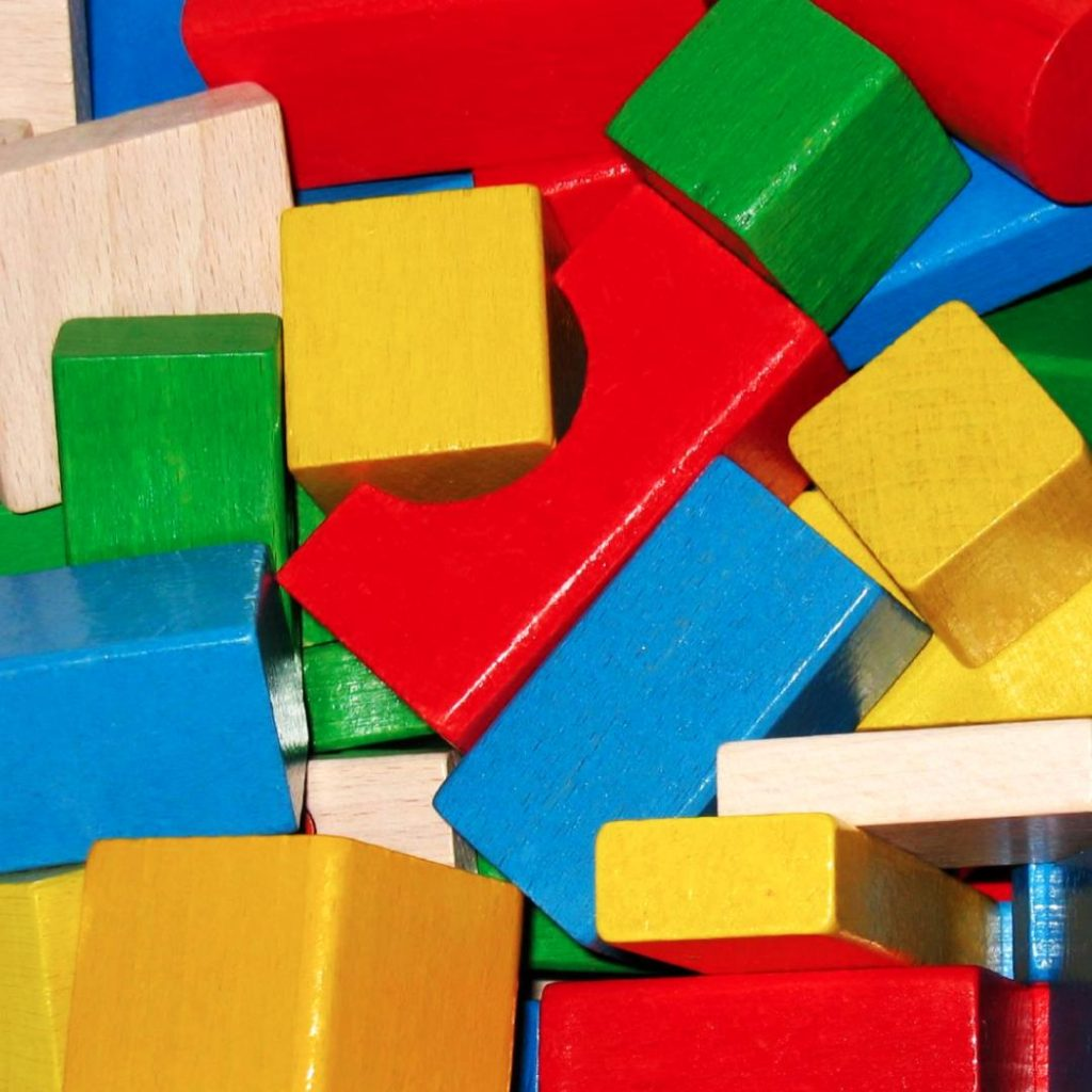 assorted red yellow green building blocks