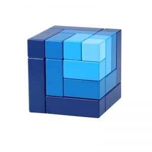 Blue matrix cube blocks.