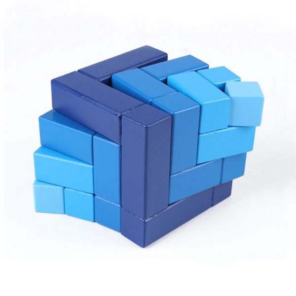 Matrix cube pieces slightly offset to demonstrate how it fits together as a cube.