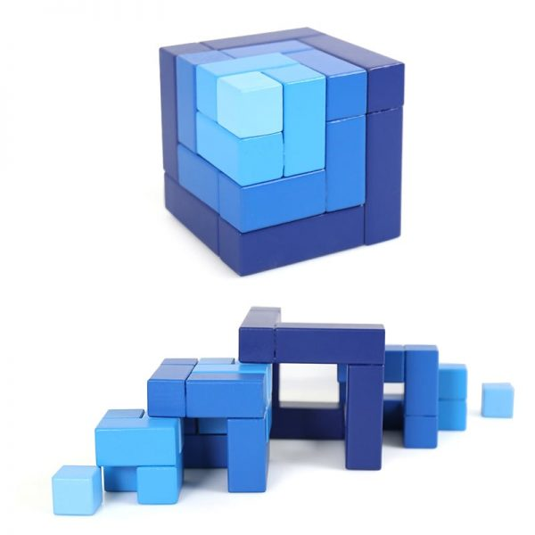 Matrix cube pieces ordered by size.