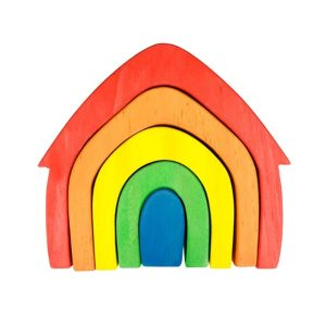 Rainbow house stacker.