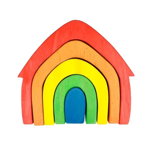 Rainbow house stacker.