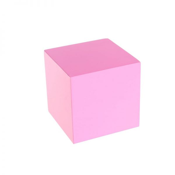 Single pink wooden box toy.