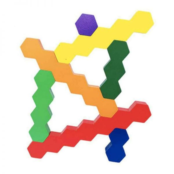 Two dimensional patterns formed by connecting hexagon sticks.