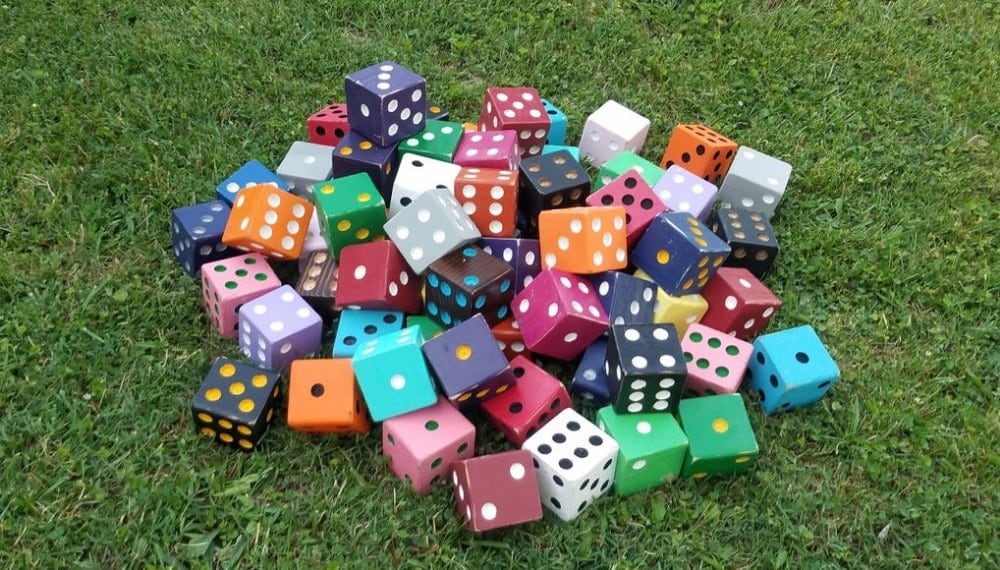 custom color giant wooden yard dice