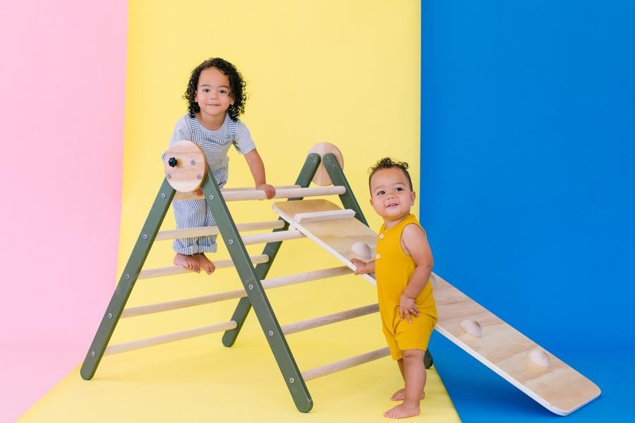 homi baby wooden ladder for toddlers