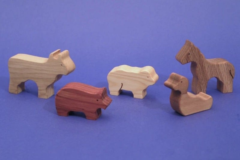 north star toys wooden animal figurines
