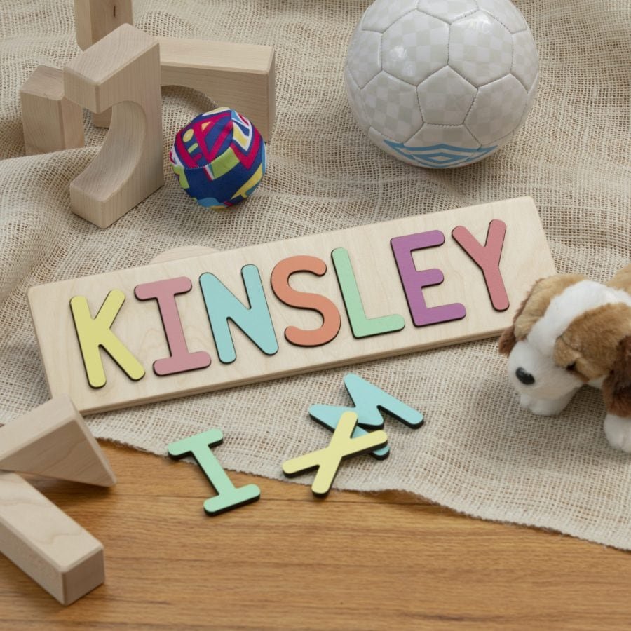 south bend woodworks personalized name puzzle