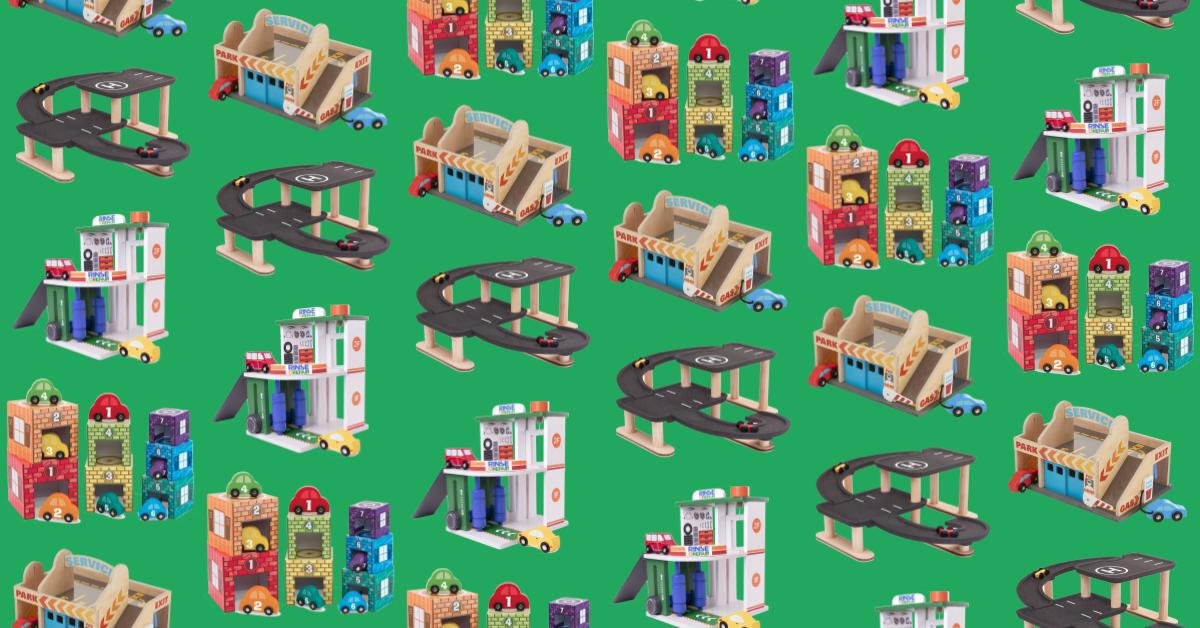 Best wooden toy garages for boys.