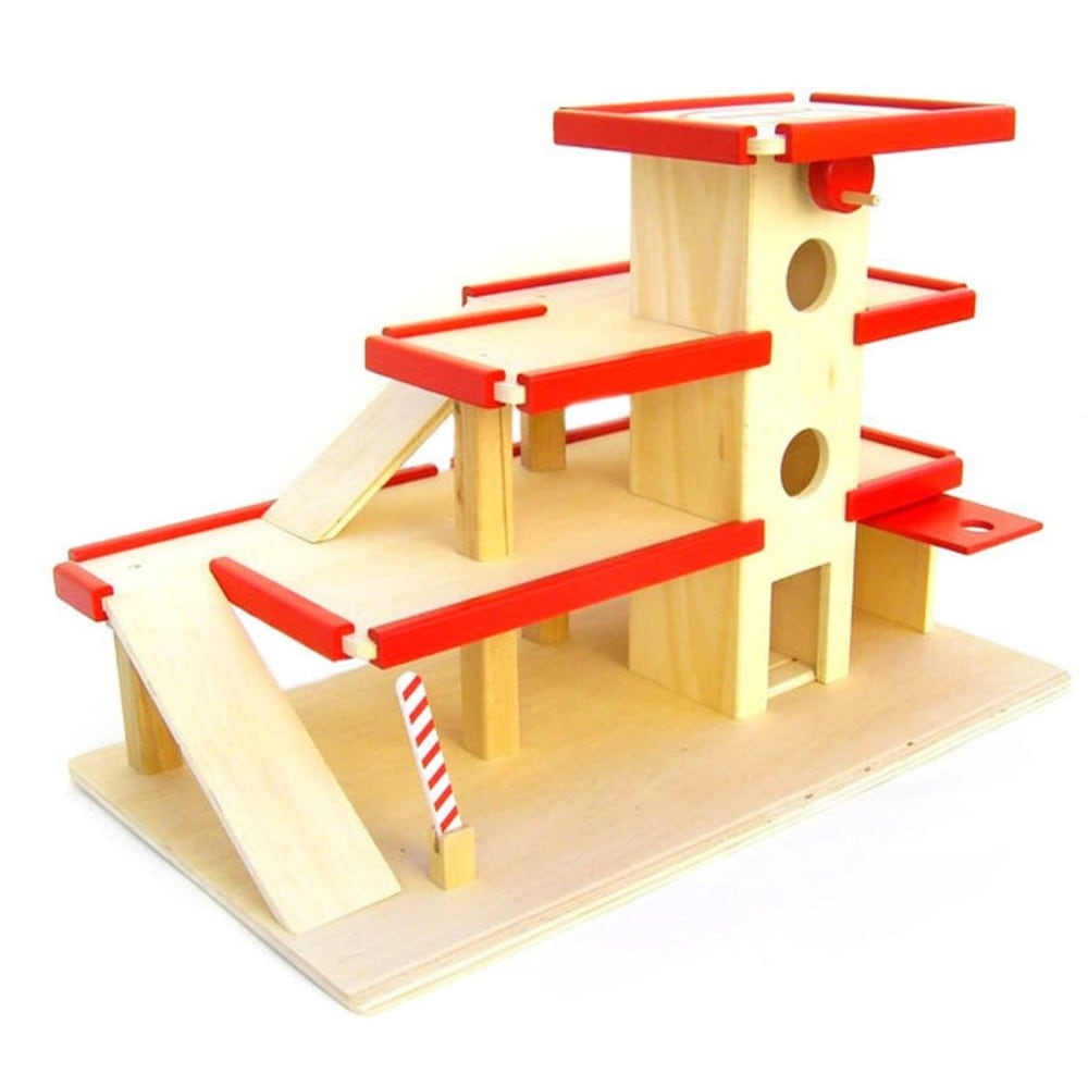 Estia Holzspiel Design brand German handmade wooden garage toy.