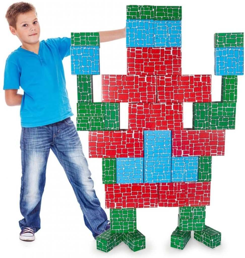 Exercise N Play brand giant cardboard building blocks for kids.