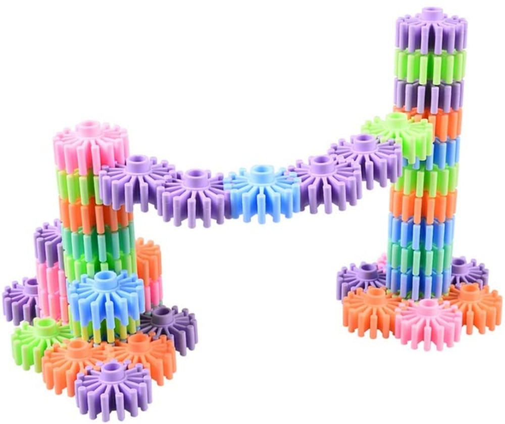 HappyMaty plastic interlocking building blocks.