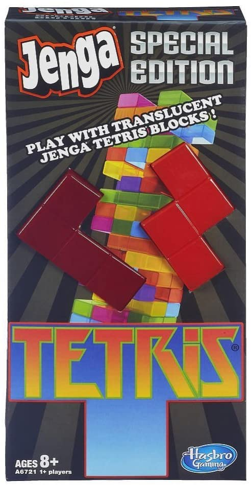 Jenga Tetris special edition packaging.
