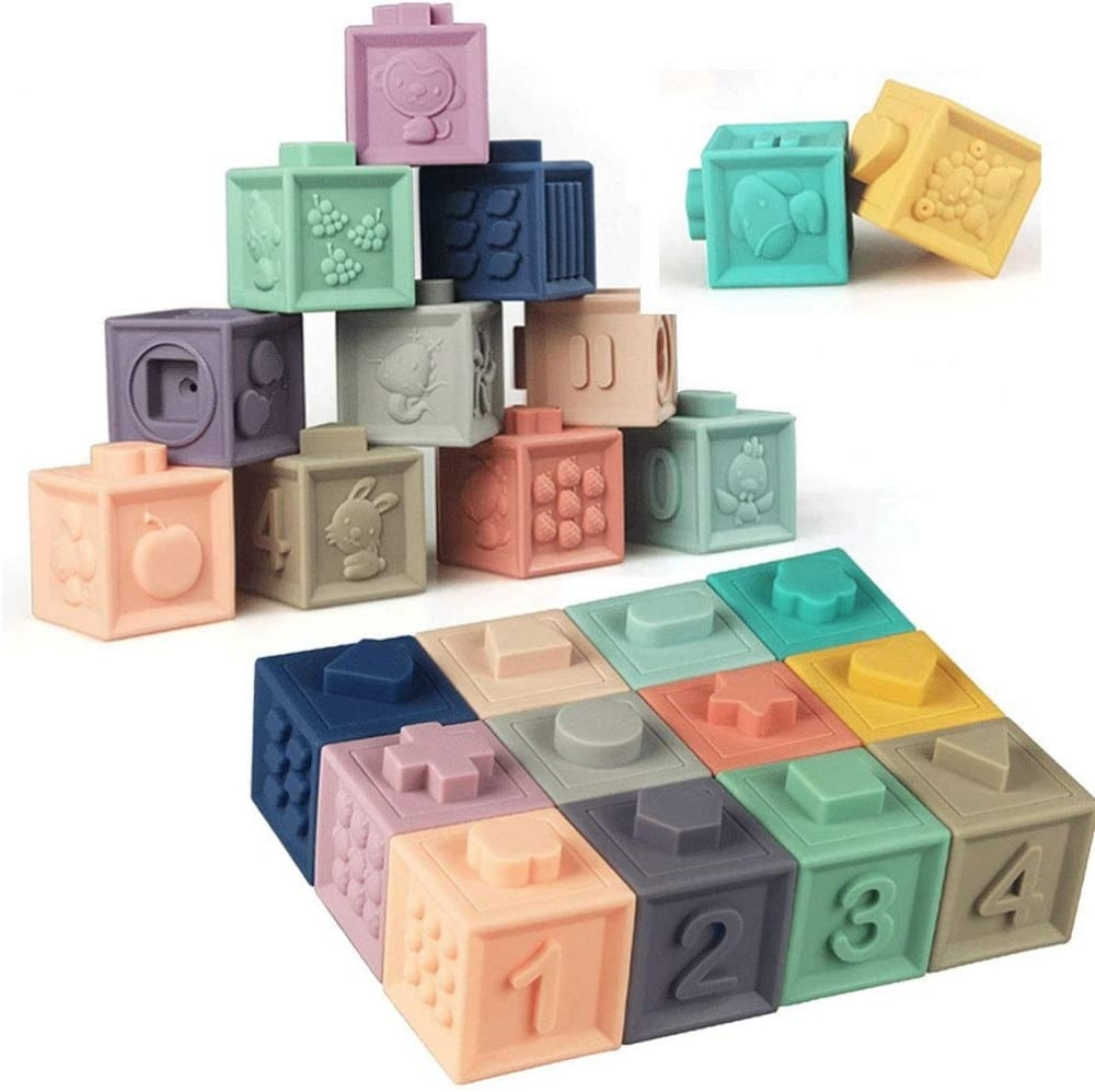 Litland brand silicone building blocks for babies.