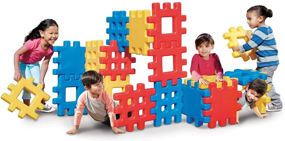 Little Tikes brand giant waffle plastic building blocks.