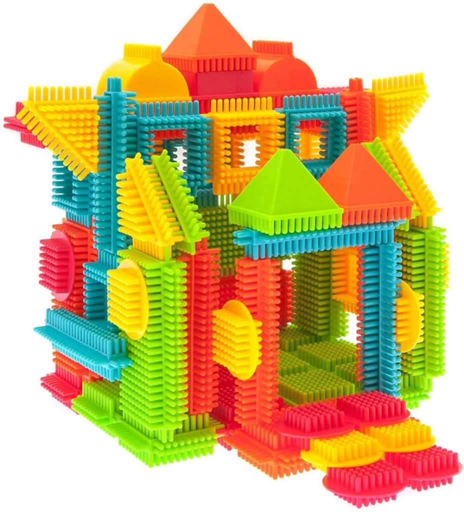 PicassoTiles plastic interlocking building blocks.
