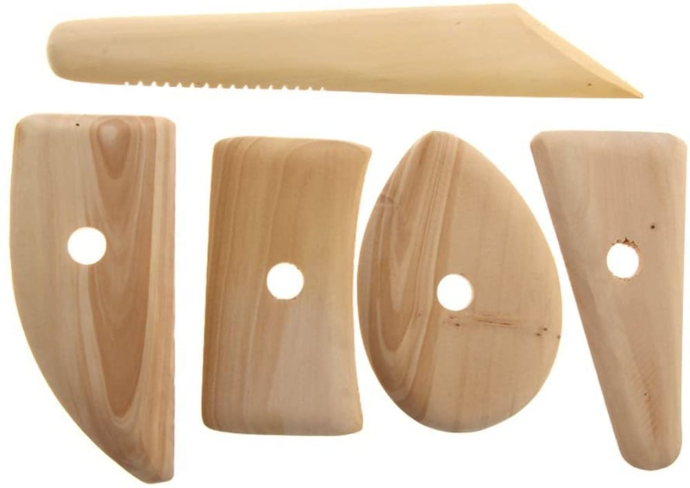 Slipster Pottery brand wooden pottery ribs safe for children's playdough activities.