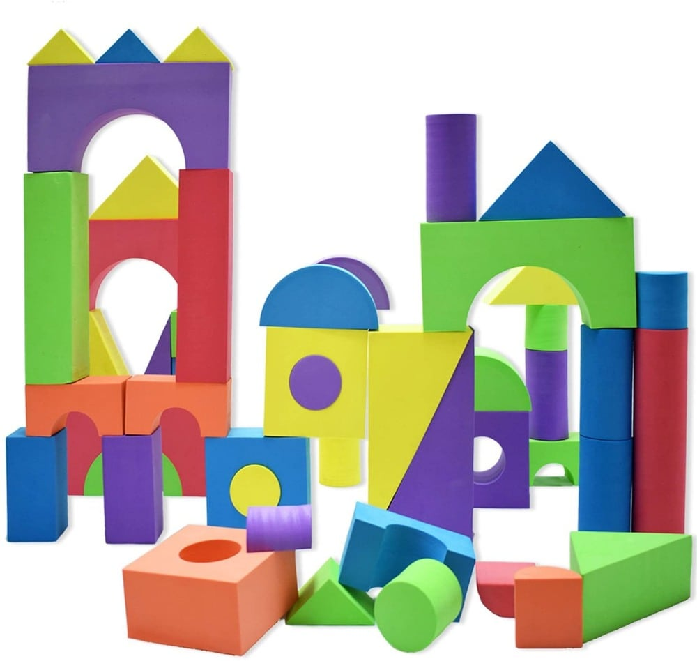 Waterproof non toxic giant foam building blocks.