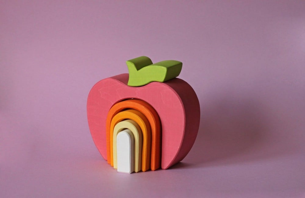 Apple Wooden Stacking Toy By Skandico Toys