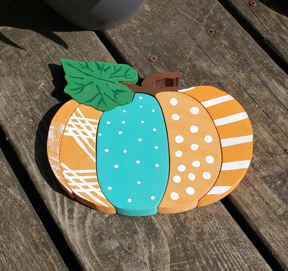 baby b handmade product brand wooden pumpkin puzzle for toddlers