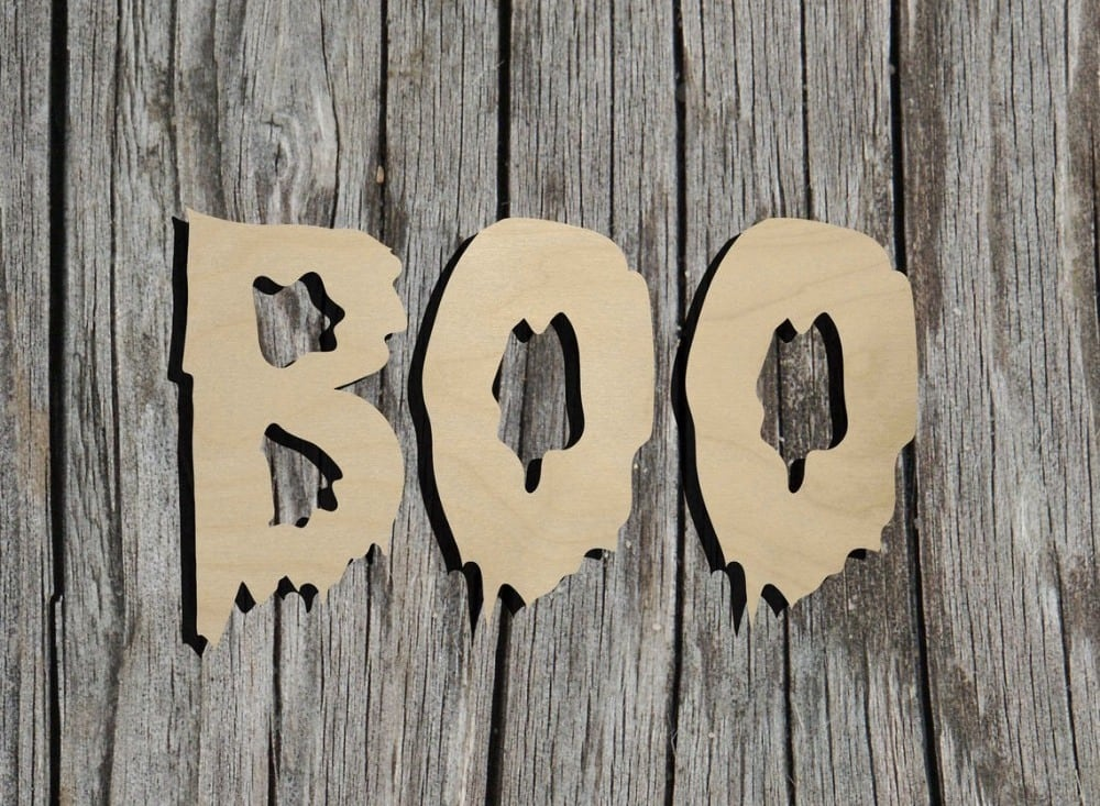 bayberries studio brand boo letters wooden craft cut out