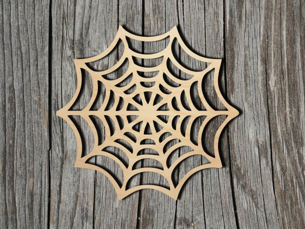 bayberries studio brand spider web shape wooden craft cut out