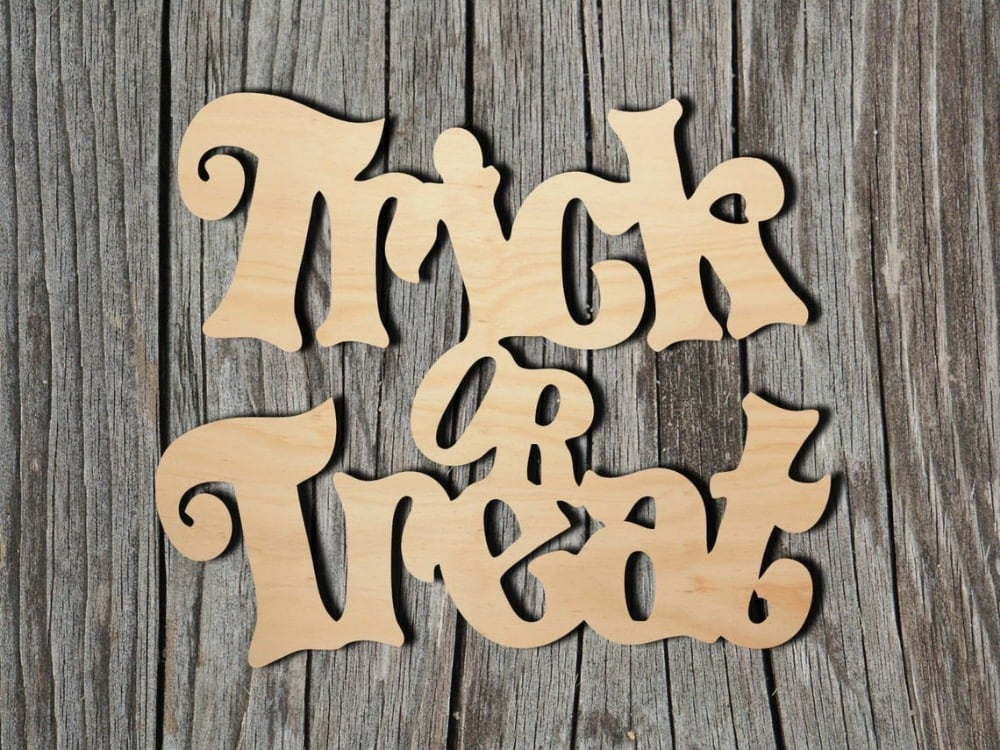 bayberries studio brand trick or treat laser cut wooden cut outs