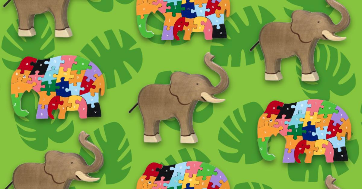 Best Wooden Elephant Toys For Kids