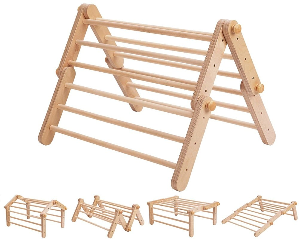 Ette tete natural wood indoor climbing toy.