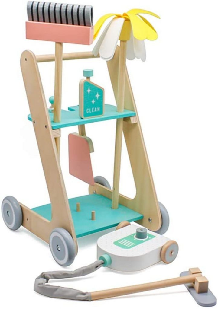 London Kate Best Wooden Toy Cleaning Cart For Young Toddlers