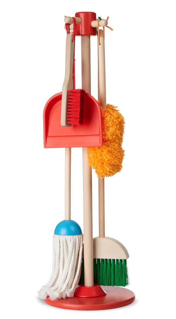 Melissa And Doug Broom Dustpan And Mop Wooden Cleaning Toy Kit