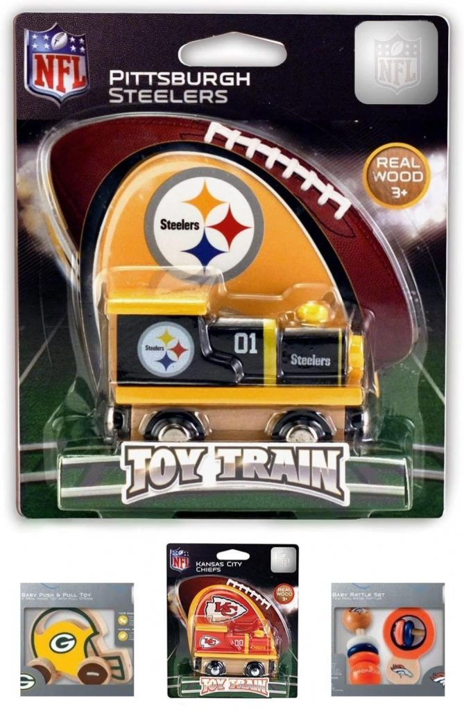 NFL Wooden Push And Pull Toys By Masterpieces Brand