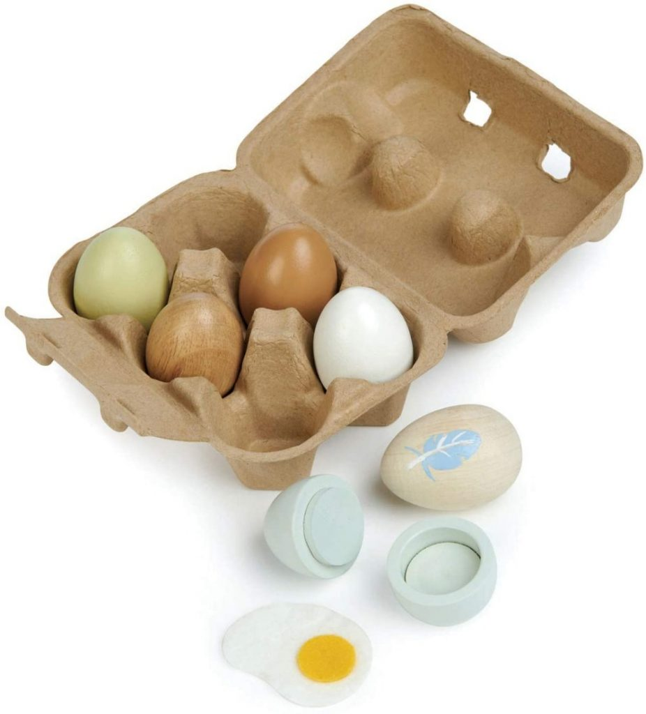 Tender Leaf Toys Natural Wood Egg Carton Toy For Toddlers