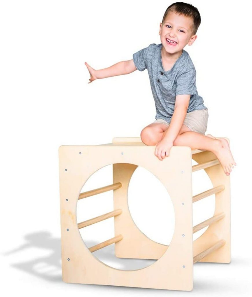Tottler best indoor wooden climbing tunnel for toddlers.