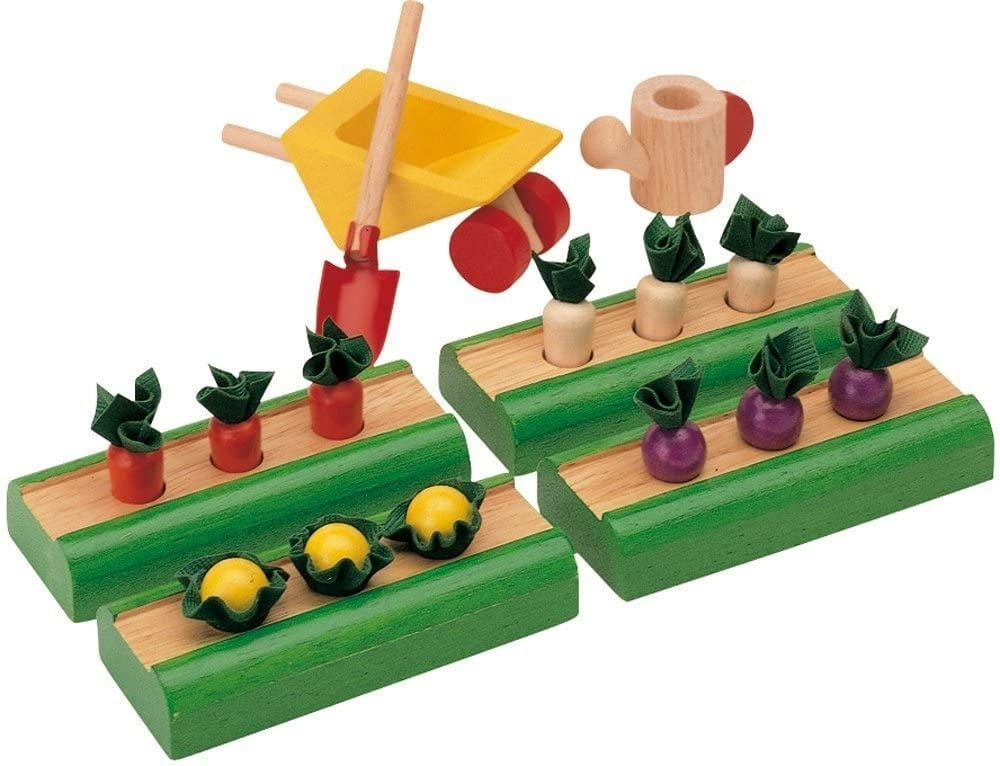 Wooden Vegetable Garden Toy Set By Plan Toys Brand