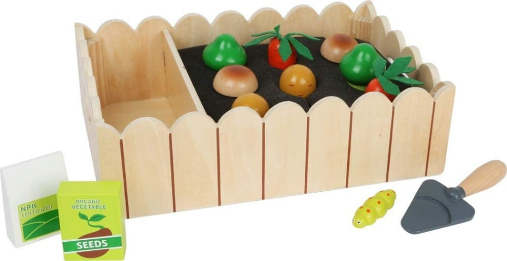 Wooden Veggies And Tools Playset By Small Foot Brand