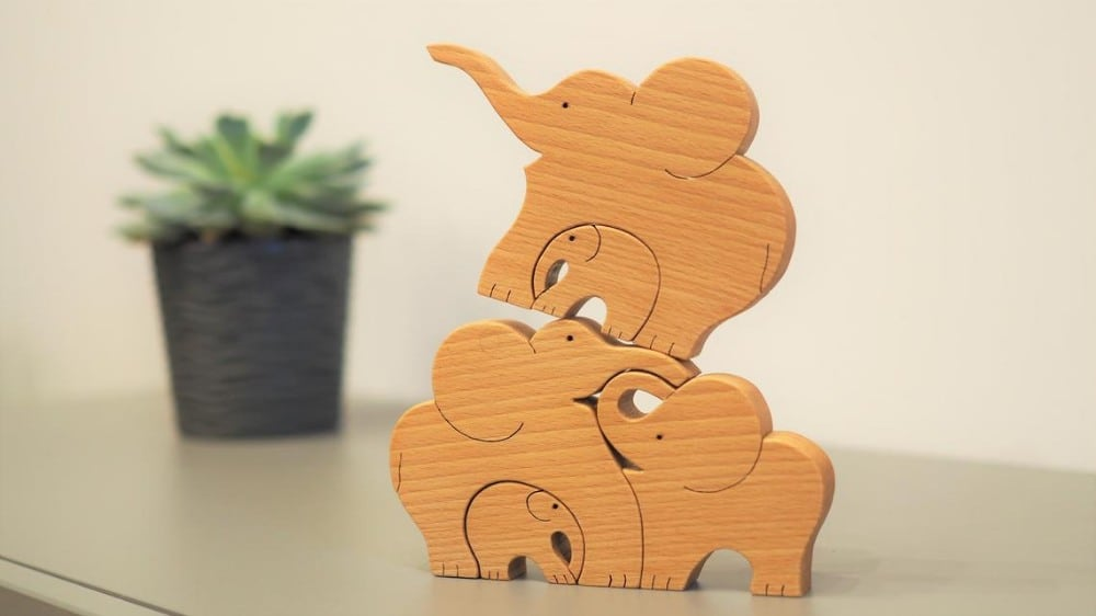 Your Wood Master Brand Wooden Elephant Blocks For Stacking And Nesting