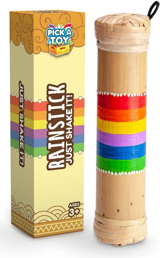 bamboo musical shaker childrens rainmaker toy by pick a toy