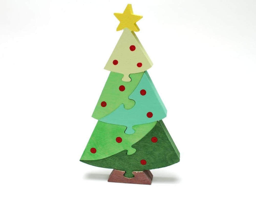 Berkshire Bowls Brand Christmas Tree Wooden Kids Puzzle