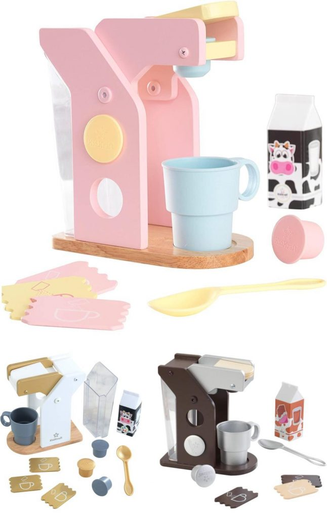 Kidkraft Childrens Pastel Wooden Coffee Role Play Toy