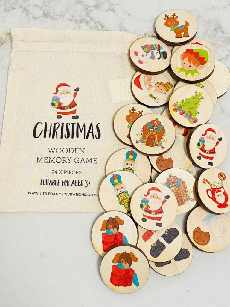 Little Dance Brand Christmas Themed Wood Memory Game