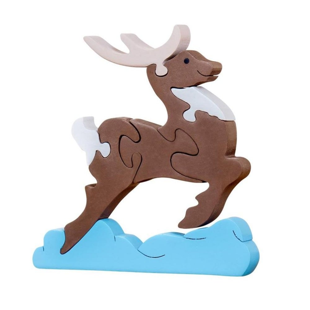 Oxemize Brand Toddlers Wooden Reindeer Puzzle