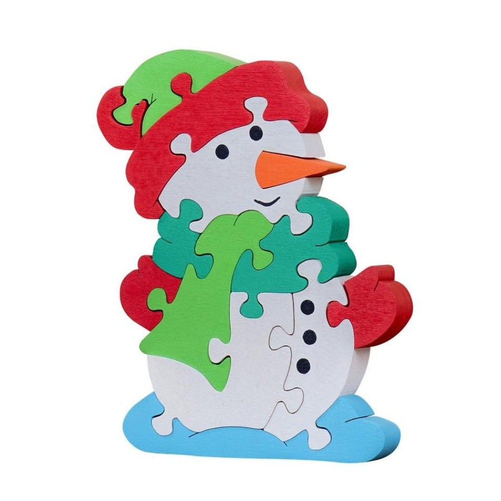 Oxemize Brand Toddlers Wooden Snowman Puzzle
