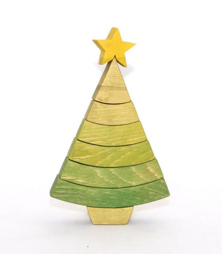 Piron Design Brand Wooden Christmas Tree Stacking Blocks