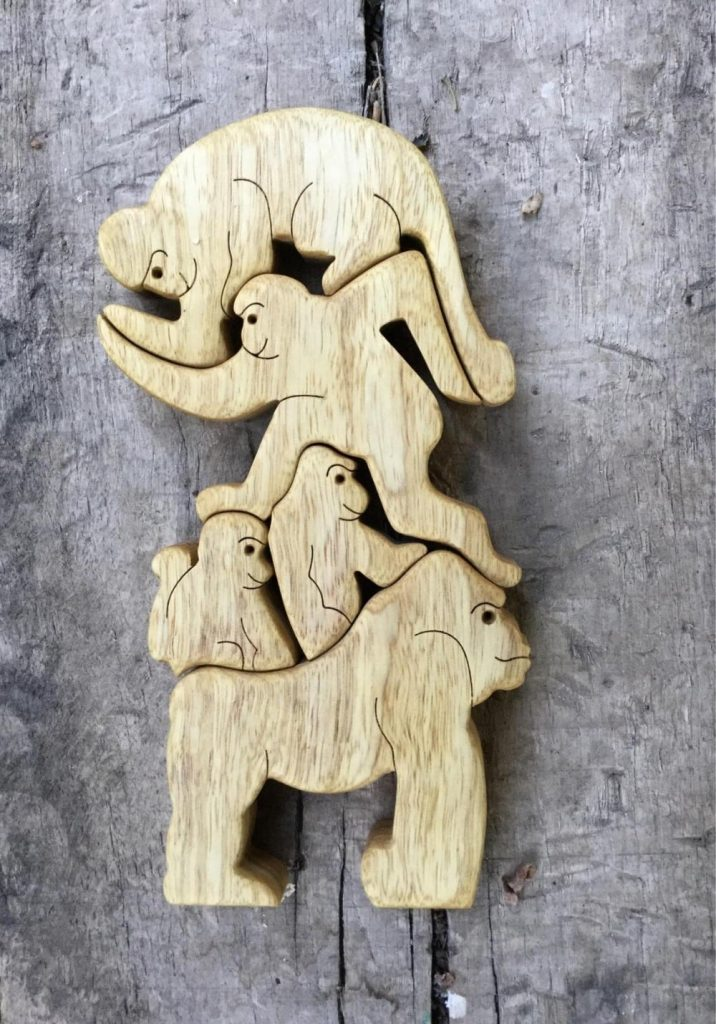 Puzzleson Wooden Monkey Stacking And Balancing Game