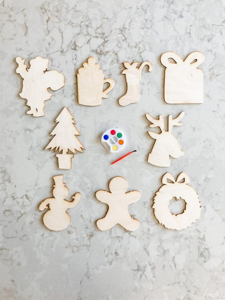 The Confetti Home Brand Paintable Christmas Themed Wooden Cut Out Set