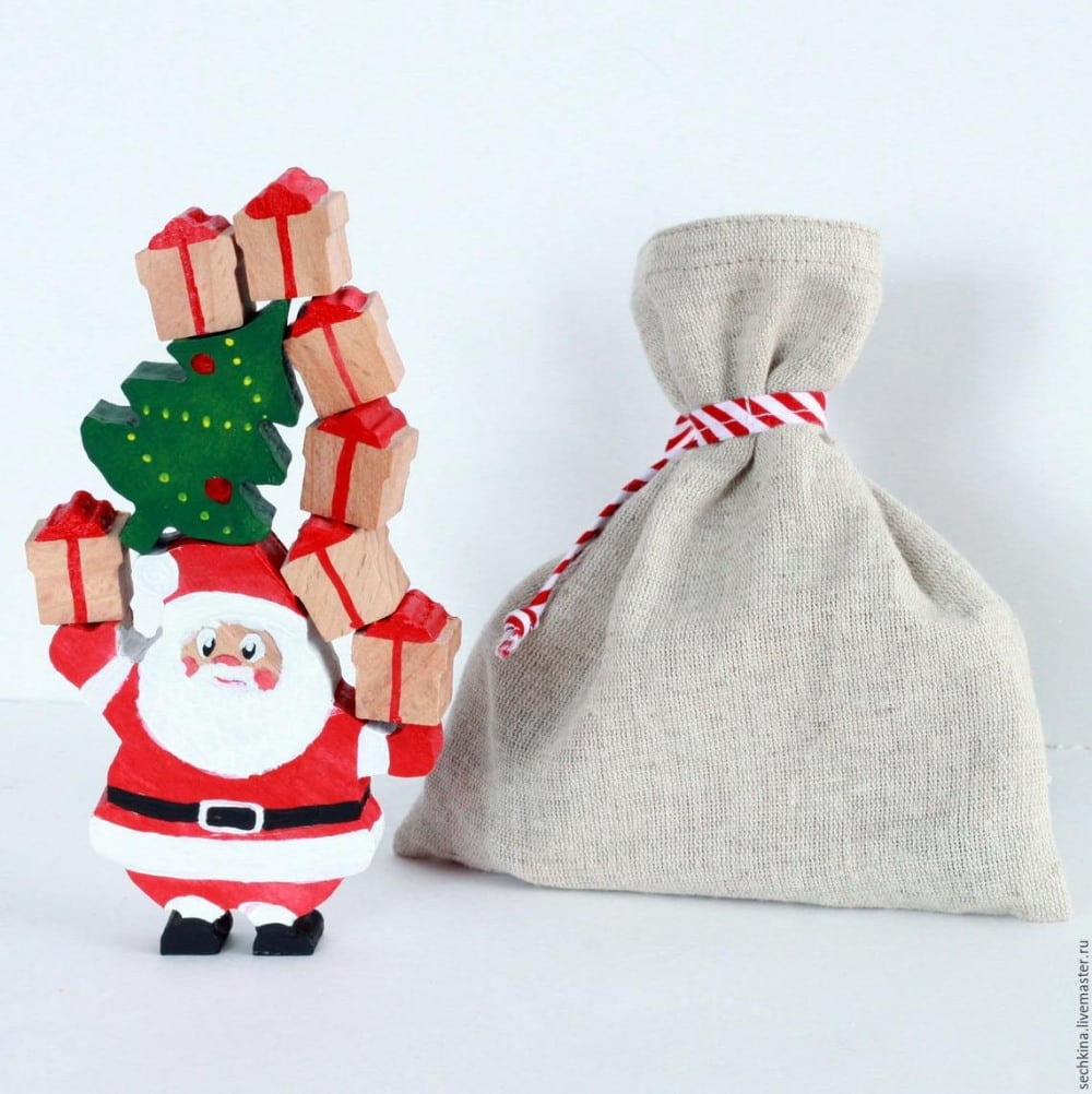 Toys Wooden Gifts Brand Wooden Santa Claus Gift Delivery Figurine