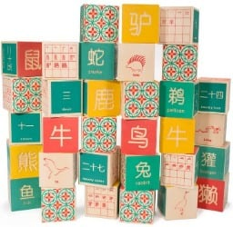 Uncle Goose Chinese Character Learning Blocks
