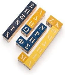 Uncle Goose Greek Wooden Blocks For Language Learning