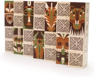 Uncle Goose Swahili Language Wooden Blocks